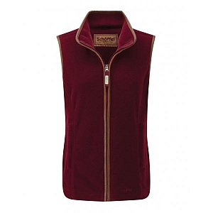 Schoffel Lyndon II Fleece Gilet Ruby